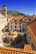 The Large Onofrio's Fountain view from Dubrovnik City Walls