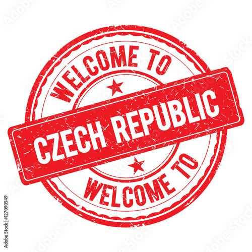 Photo  Welcome to CZECH REPUBLIC Stamp.