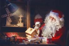 Santa Clause Is Preparing Gifts