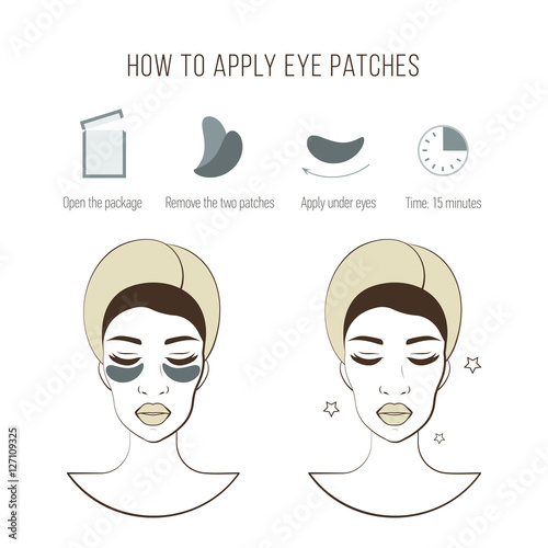Steps how to apply eye patches  Cosmetic mask for eye