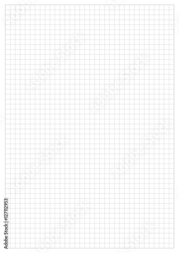 Grid Paper Sheet. Vector, Illustration of Gray Grid Paper Sheet. White Boarder.