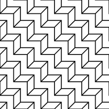 Abstract Geometric Black And White Graphic Design Deco 3d Stairs Pattern