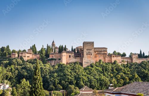 Photo sur Aluminium Monument View of the famous Alhambra, Granada, Spain.