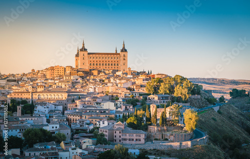 Toledo, Spain old town cityscape at the Alcazar.
