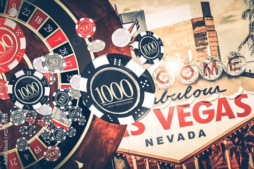 фотография  Vegas Casino Roulette Concept