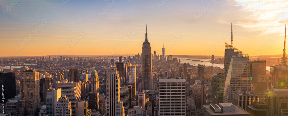 Fototapety, obrazy: New York City skyline panorama