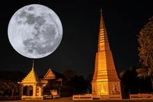 Super Full Moon Setting Behind...