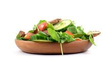 Fresh Arugula Salad On Plate