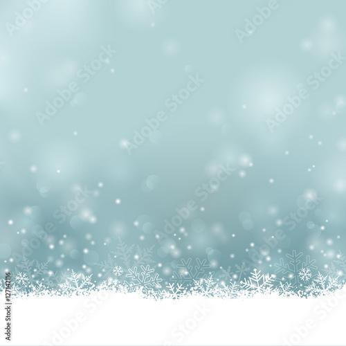 Foto-Doppelrollo - Frohe Weihnachten - Winter Hintergrund mit Schnee und Eiskristallen (von my_stock)