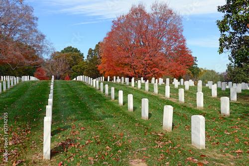 Keuken foto achterwand Begraafplaats Headstones in Arlington National Cemetary in Washington DC, USA