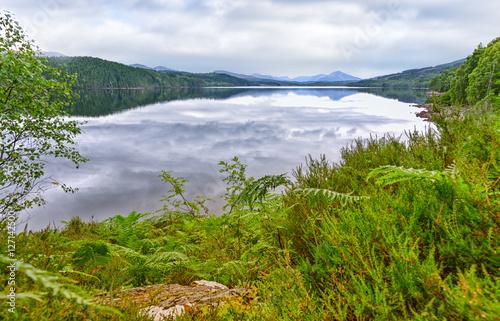 Fotografie, Obraz  Naturidylle am Loch Garry - Schottland