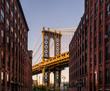 Manhattan Bridge viewed from Brooklyn street