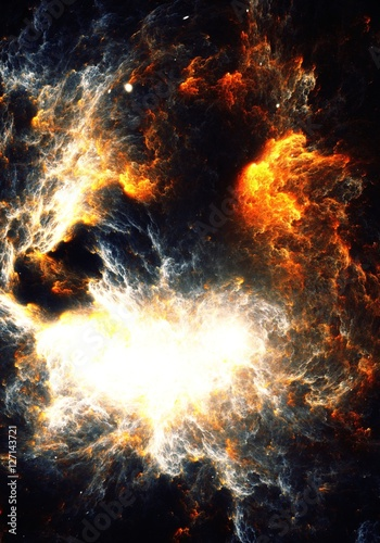 Photo Abstract painting of a fire storm