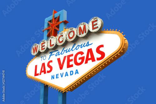Foto op Aluminium Las Vegas Welcome to fabulous Las Vegas sign