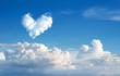 Leinwandbild Motiv romantic Heart Cloud abstract blue sky and cloud nature backgrou