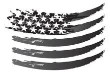 USA Flag Vector Grayscale