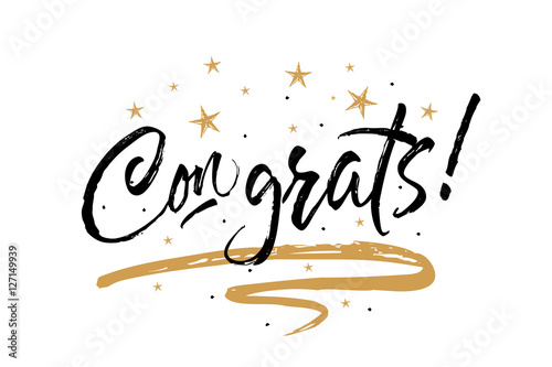 Congrats, Congratulations card Canvas-taulu