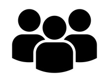 Group Of People Or Group Of Users / Friends Flat Icon For Apps And Websites