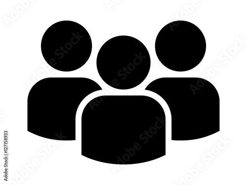 Leinwand Poster Group of people or group of users / friends flat icon for apps and websites