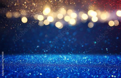 Foto op Canvas Licht, schaduw glitter vintage lights background. de-focused