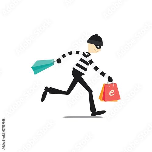 Fotografía Online shop thief