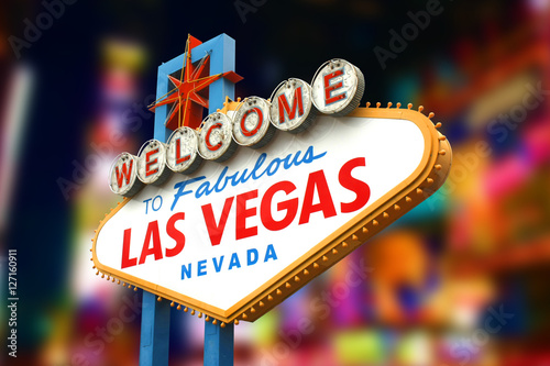 Foto op Aluminium Las Vegas Welcome to fabulous Las Vegas sign