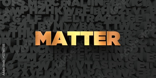 matter gold text on black background 3d rendered royalty free