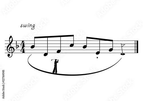 Golf illustré musicalement © mobilise248