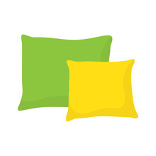 Colored Pillow, Cushion Vector...