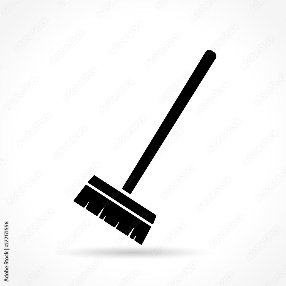 Fototapeta broom icon on white background
