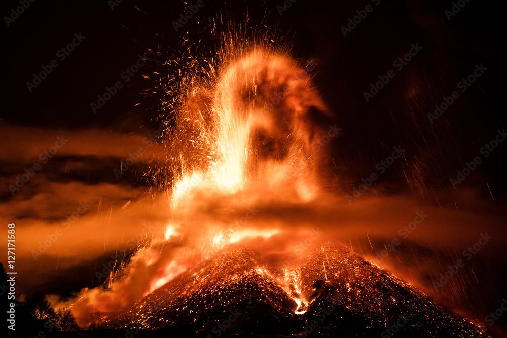 Fototapety, obrazy: Volcano Etna Eruption
