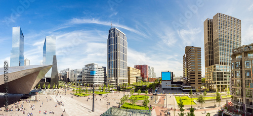 Photo sur Toile Rotterdam Skyline der Stadt Rotterdam, Niederlande