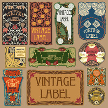 Vector Vintage Items: Label Ar...