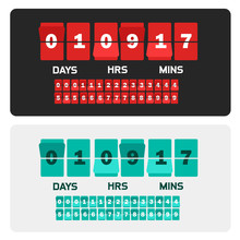 Countdown Clock Digits Board New Year And Christmas Sale Timer. Number Counter Template Banner, All Digits With Flips Included.