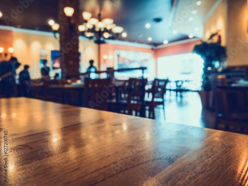 Fototapeta restauracja z bokeh streszczenie rozmycie tła światła