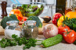 Vegetables in the kitchen.