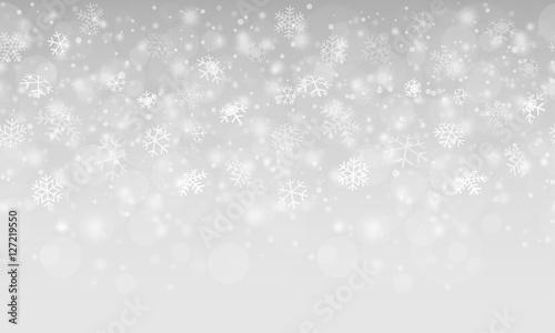 Foto-Doppelrollo - abstract snow flakes background (von picoStudio)
