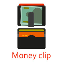 Money Clip With Cash And Cards...
