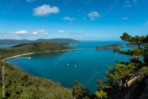 Aluminium Prints Dark blue Aerial view of South Molle Island part of the Whitsunday Islands in Australia