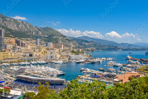 Photo Stands Caribbean View of monaco and monte carlo in the south of France