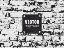 Brick Wall Grunge Vector Texture. Background Texture.