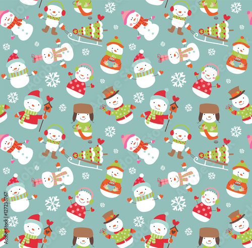 Cotton fabric Holiday seamless background