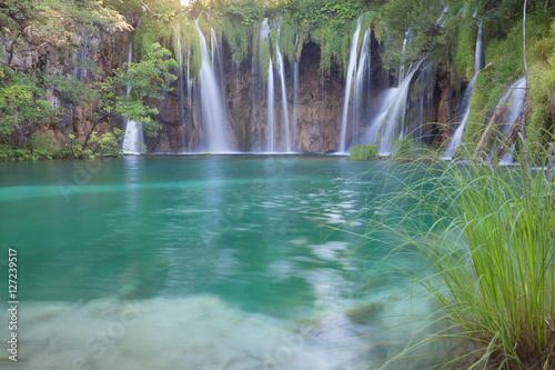 Foto op Canvas Watervallen Beautiful summer waterfalls