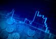 金融イメージ チャートとお金