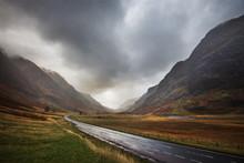 Road Through Scottish HIghlands