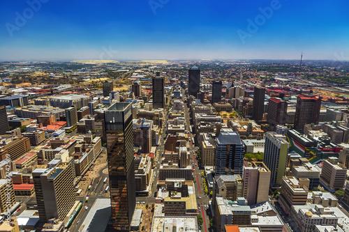 Foto op Canvas Zuid Afrika Republic of South Africa. Johannesburg, Gauteng Province. Cityscape (west part) seen from the Carlton Center viewing deck