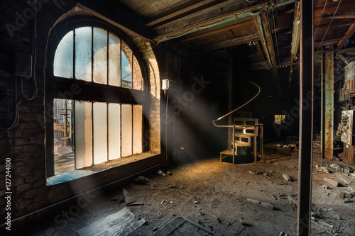 Printed kitchen splashbacks Old abandoned buildings Abandoned factory