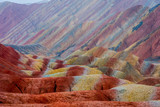 Fototapeta Tęcza - Rainbow mountains, Zhangye Danxia geopark, China