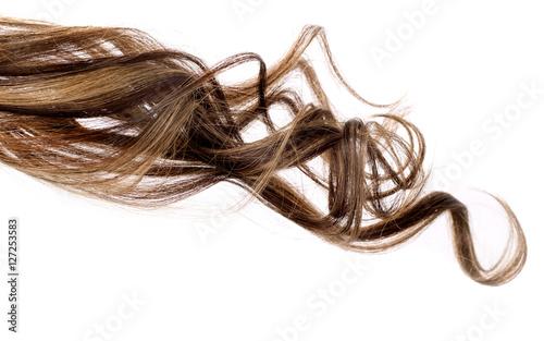 Obraz brown hair on white background - fototapety do salonu
