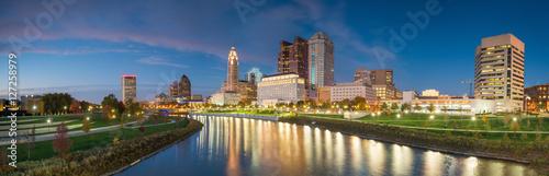 Fototapeta View of downtown Columbus Ohio Skyline obraz